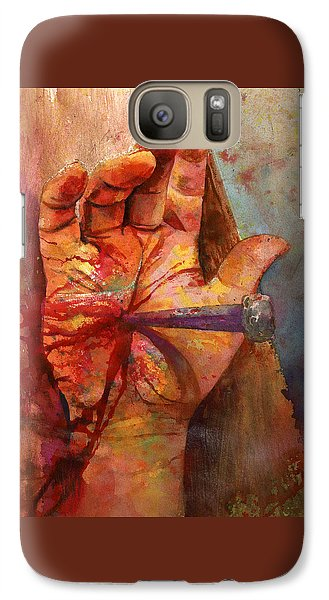 Galaxy Case featuring the painting The Hand Of God by Andrew King