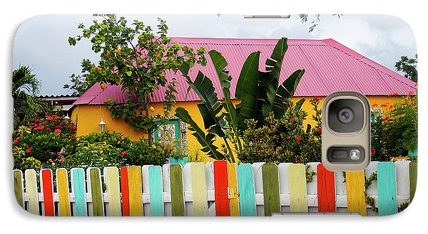 Galaxy Case featuring the photograph The Happy House, Island Of Curacao by Kurt Van Wagner
