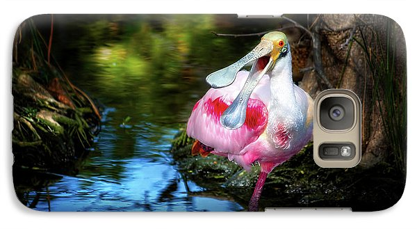 The Happy Spoonbill Galaxy S7 Case