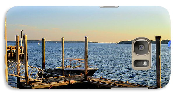 Galaxy Case featuring the photograph The Harbor Bristol Rhode Island by Tom Prendergast