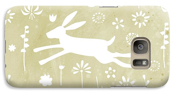 The Hare In The Meadow Galaxy Case by Nic Squirrell
