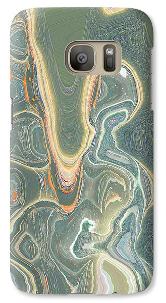Galaxy Case featuring the digital art The Harp Player by Lenore Senior