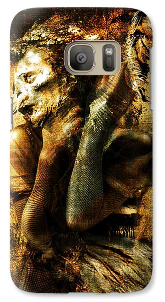 Galaxy Case featuring the digital art The Harpy by Nada Meeks
