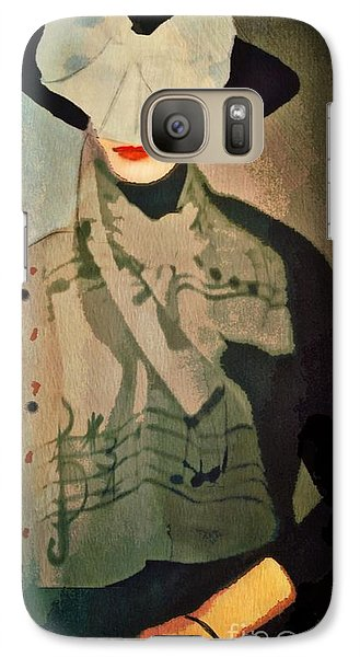 Galaxy Case featuring the digital art The Hat by Alexis Rotella