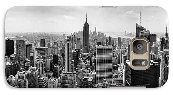 New York City Skyline Bw Galaxy Case by Az Jackson