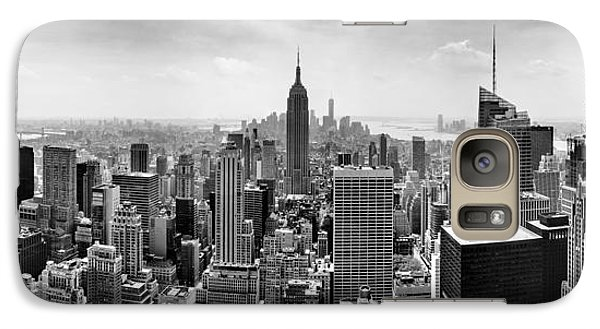 Empire State Building Galaxy S7 Case - New York City Skyline Bw by Az Jackson