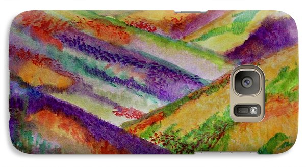 Galaxy Case featuring the painting The Hills Are Alive by Kim Nelson