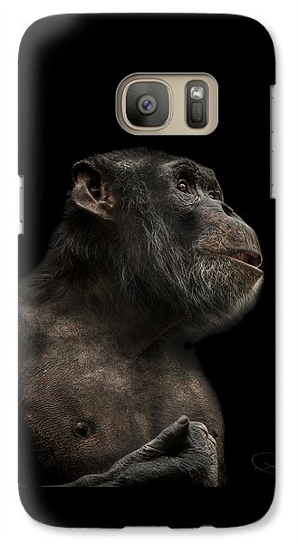 Ape Galaxy S7 Case - The Hitchhiker by Paul Neville