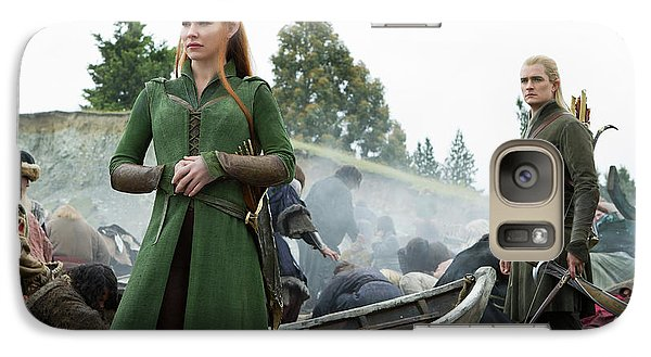 Orlando Bloom Galaxy S7 Case - The Hobbit The Battle Of The Five Armies Evangeline Lilly Orlando Bloom by Naveen Sharma