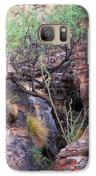 Galaxy Case featuring the photograph The Hole - Mount Lemmon by Donna Greene