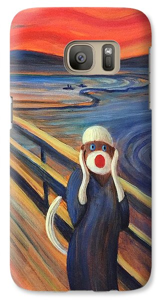 Galaxy Case featuring the painting The Holler by Randol Burns