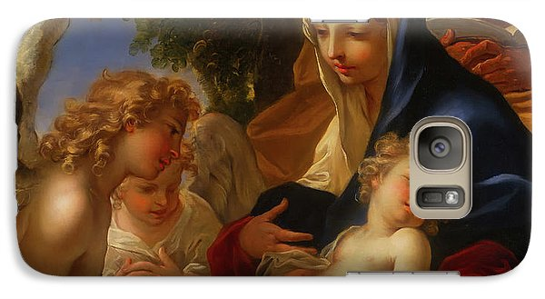 Galaxy Case featuring the painting The Holy Family With Angels by Seastiano Ricci