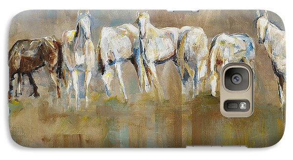 Horse Galaxy S7 Case - The Horizon Line by Frances Marino