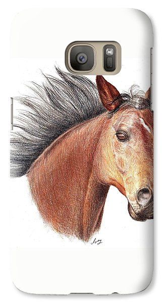 Galaxy Case featuring the drawing The Horse by Mike Ivey