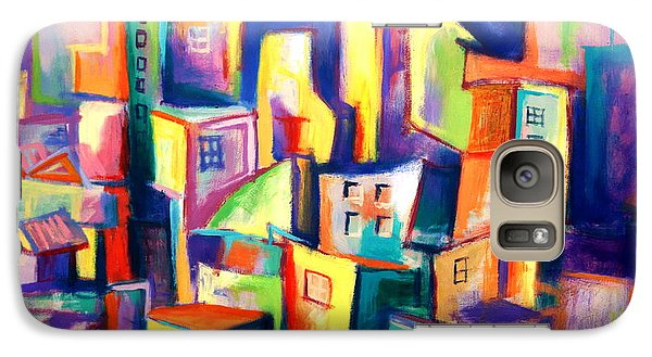 Galaxy Case featuring the painting The Houses by Kim Gauge