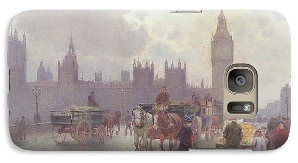 The Houses Of Parliament From Westminster Bridge Galaxy S7 Case by Alberto Pisa