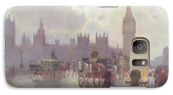 The Houses Of Parliament From Westminster Bridge Galaxy Case by Alberto Pisa