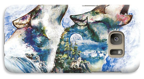 Galaxy Case featuring the painting The Howl by Sherry Shipley