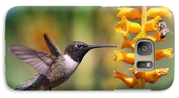 Galaxy Case featuring the photograph The Hummingbird And The Bee by William Lee
