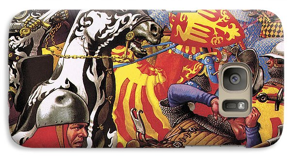 The Hundred Years War  The Struggle For A Crown Galaxy S7 Case by Pat Nicolle