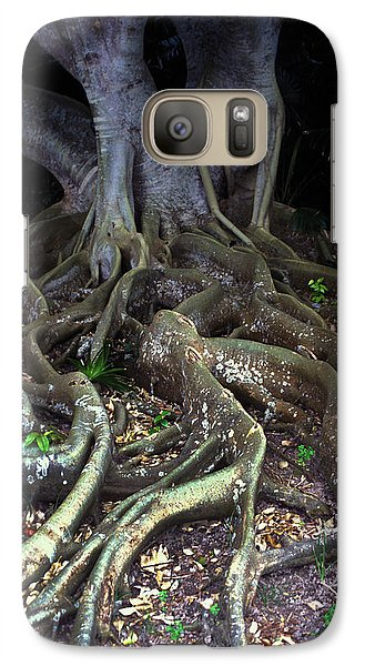 Galaxy Case featuring the photograph The Hungry Roots by Carl Purcell