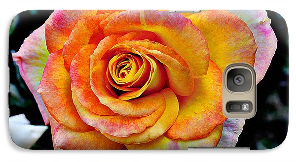 Galaxy Case featuring the mixed media The Imperfect Rose by Glenn McCarthy
