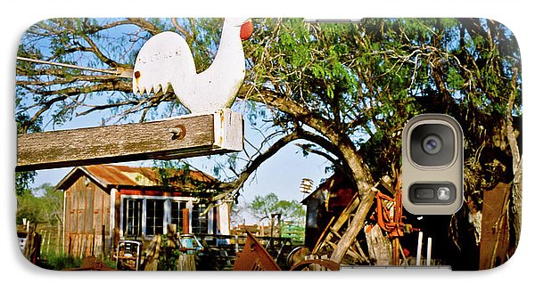 Galaxy Case featuring the photograph The Iron Chicken by Linda Unger