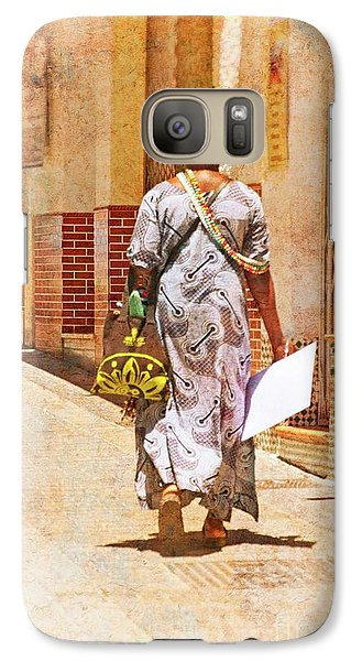 Galaxy Case featuring the photograph The Jewelry Seller - Malaga Spain by Mary Machare