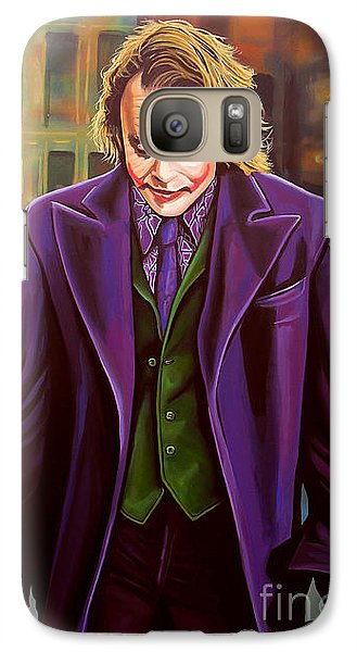 The Joker In Batman  Galaxy S7 Case by Paul Meijering