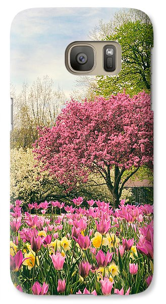 Galaxy Case featuring the photograph The Joy Of Tulips by Jessica Jenney