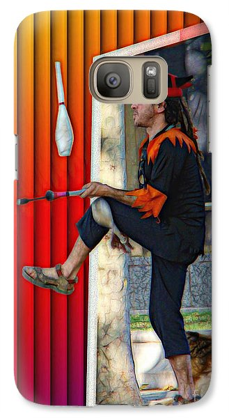 Galaxy Case featuring the digital art The Juggler by Sue Melvin