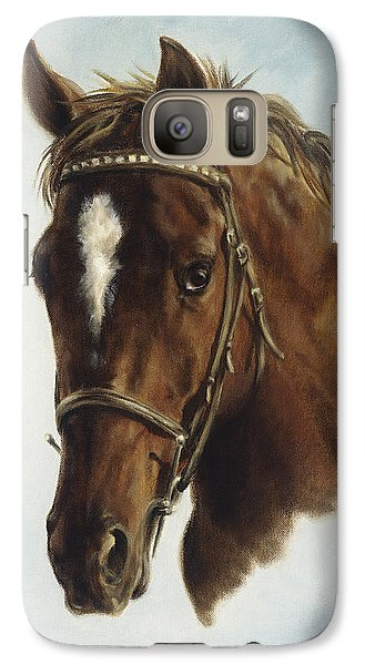Galaxy Case featuring the painting The Jumper by Cathy Cleveland