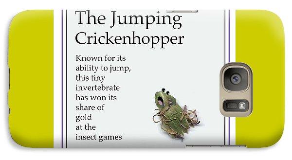 Galaxy Case featuring the digital art The Jumping Crickenhopper by Graham Harrop