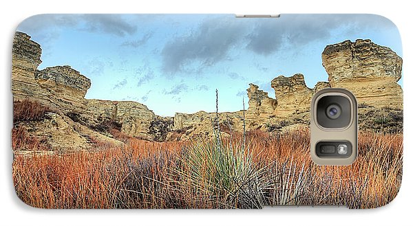 Galaxy S7 Case featuring the photograph The Kansas Badlands by JC Findley