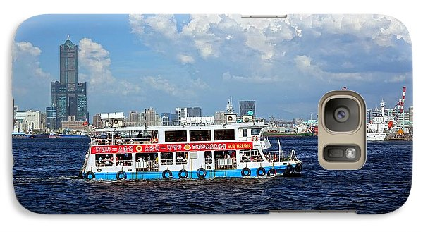 Galaxy Case featuring the photograph The Kaohsiung Harbor Ferry Crosses The Bay by Yali Shi