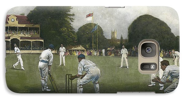 Cricket Galaxy S7 Case - The Kent Eleven Champions, 1906 by Albert Chevallier Tayler