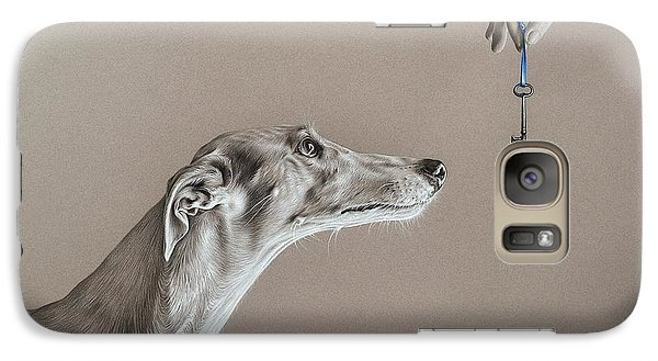 Galaxy Case featuring the drawing The Key Of Sincerity by Elena Kolotusha