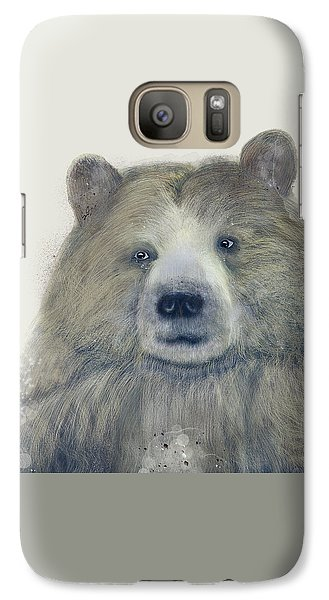 Galaxy Case featuring the painting The Kodiak Bear by Bri B