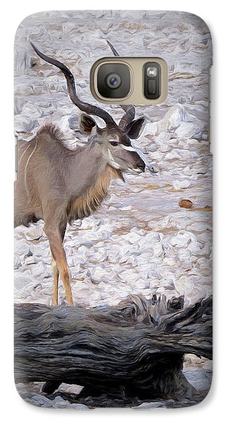 Galaxy Case featuring the digital art The Kudu In Namibia by Ernie Echols