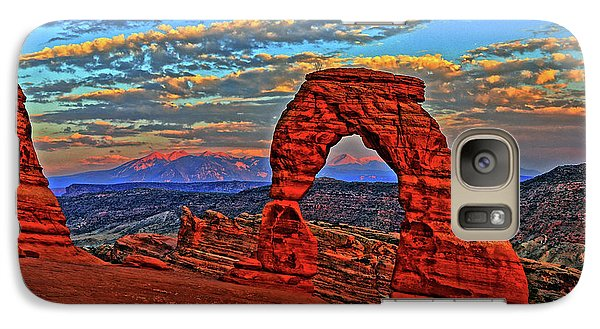 Galaxy Case featuring the photograph The La Sal Mountains And Arch by Scott Mahon