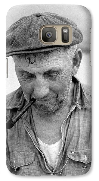 Galaxy Case featuring the photograph The Pipe Smoker by John Stephens