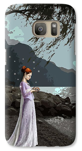 Galaxy Case featuring the painting The Lady And The Kitty by Raffaella Lunelli