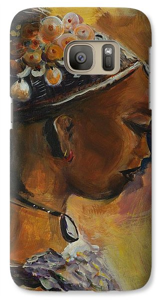 Galaxy Case featuring the painting The Lady by Bernadette Krupa