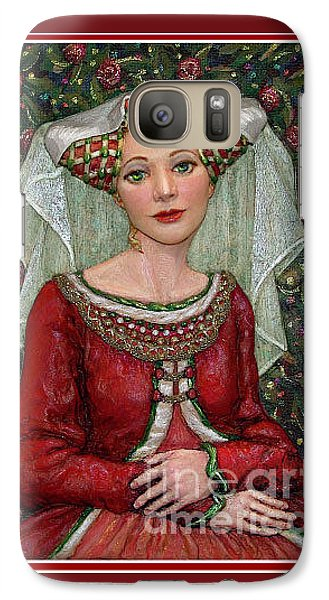 Galaxy Case featuring the painting The Lady Mae   Bas Relief Miniature by Jane Bucci