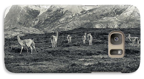 Galaxy Case featuring the photograph The Lamas by Andrew Matwijec