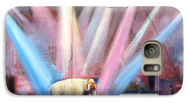 Galaxy Case featuring the painting The Last Circus Elephant by Oz Freedgood