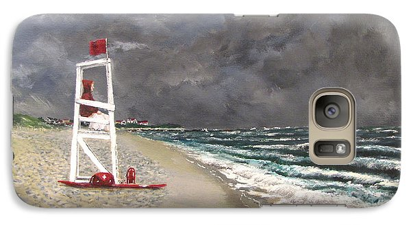 Galaxy Case featuring the painting The Last Lifeguard by Jack Skinner