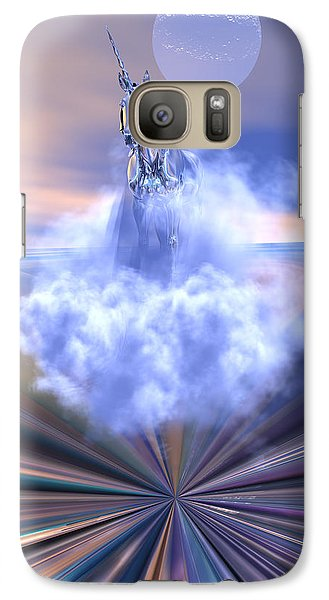Galaxy Case featuring the digital art The Last Of The Unicorns by Claude McCoy