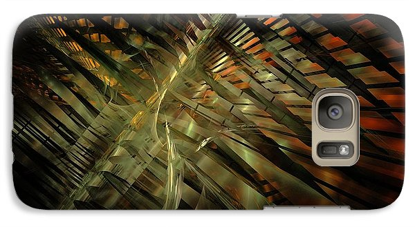 Galaxy Case featuring the digital art The Last Vestiges Of Winter by NirvanaBlues