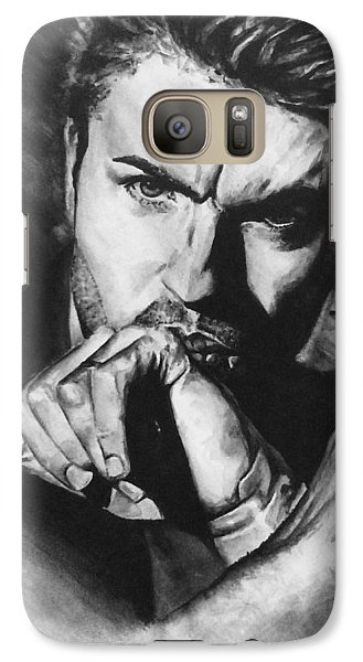 Galaxy Case featuring the painting The Late Great George Michaels by Darryl Matthews